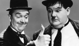 Stanlio e Ollio: la foto sul set del film sui due celebri attori comici