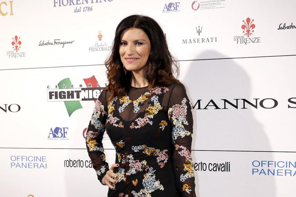 Laura Pausini a un photocall