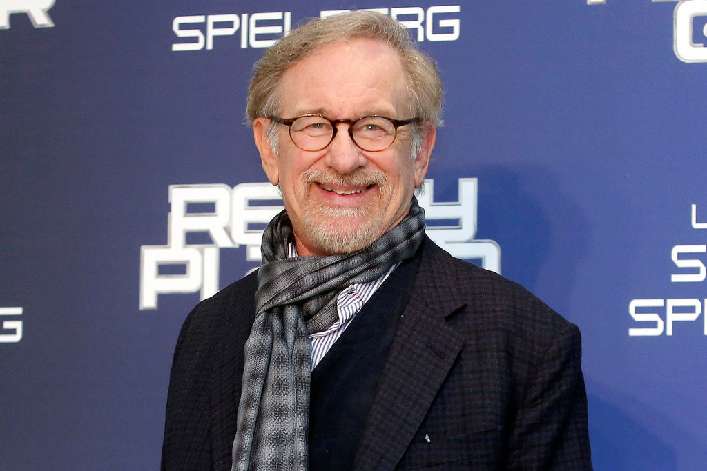 Un primo piano di Steven Spielberg