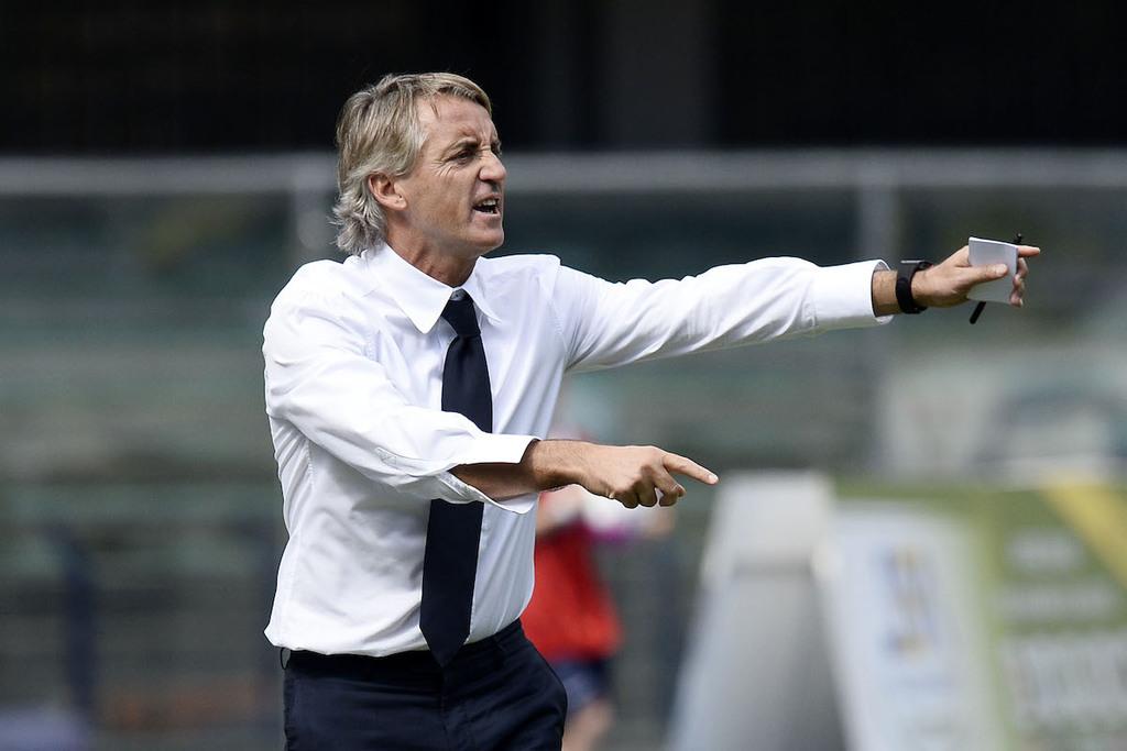 Un primo piano di Roberto Mancini