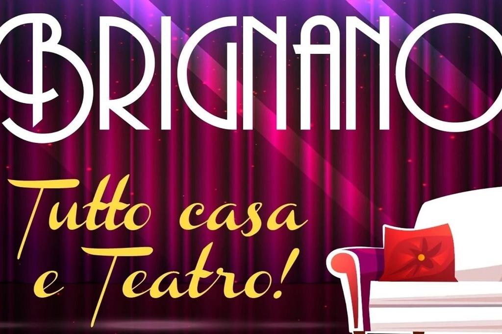 Il poster dello show Brignano tutto casa e teatro!