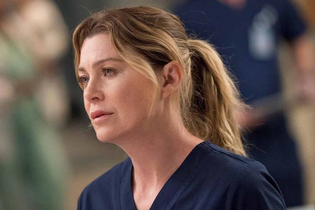 Ellen Pompeo in una scena di Grey's Anatomy