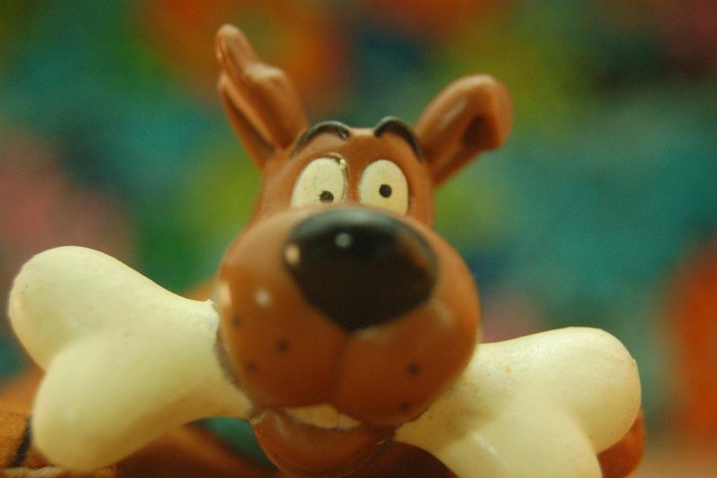 Un primo piano di Scooby-Doo