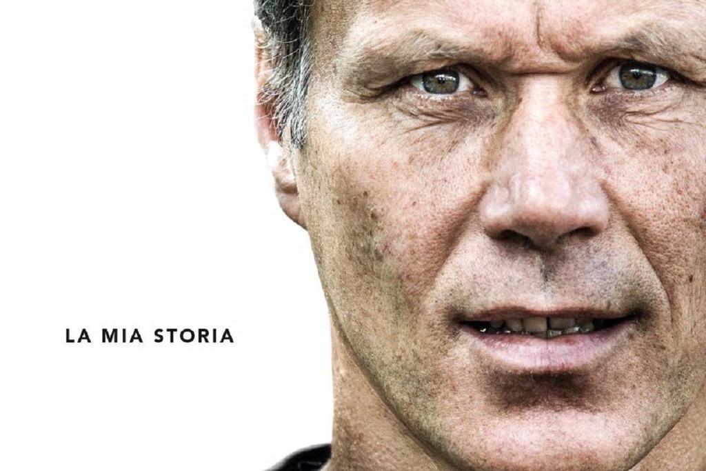 La copertina della biografia di Marco Van Basten