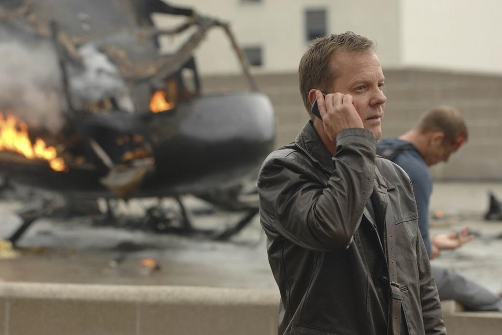 Kiefer Sutherland in una scena della serie 24