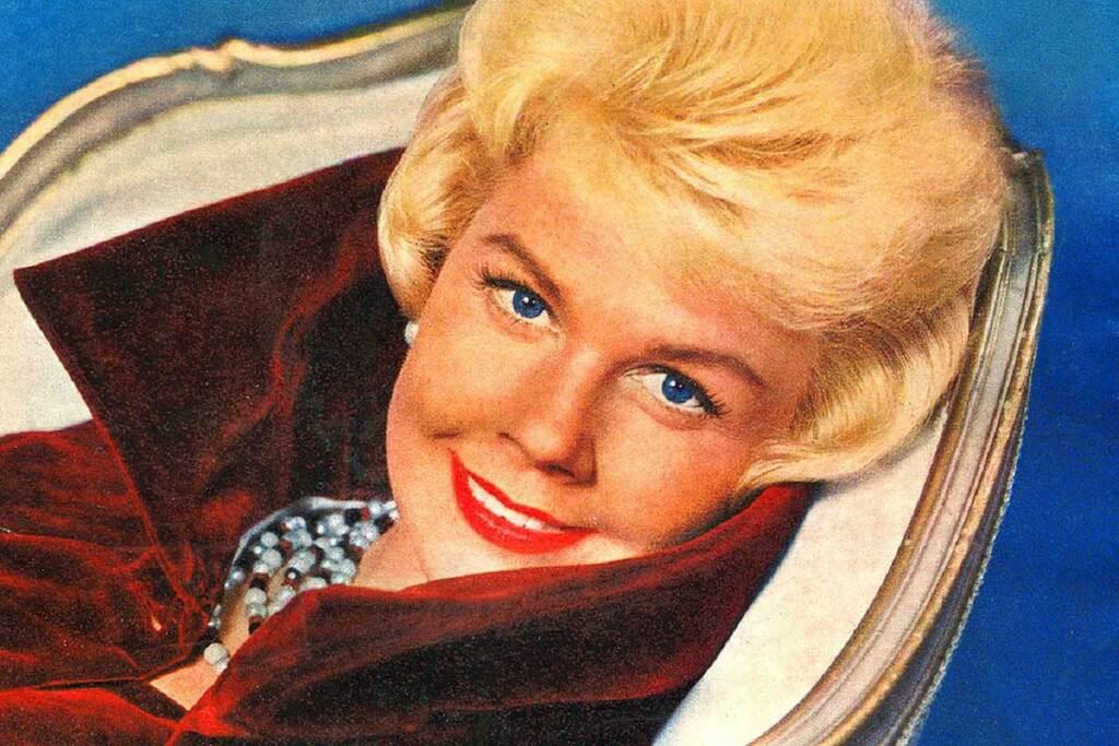 Doris Day sulla copertina della colonna sonora di Il letto racconta