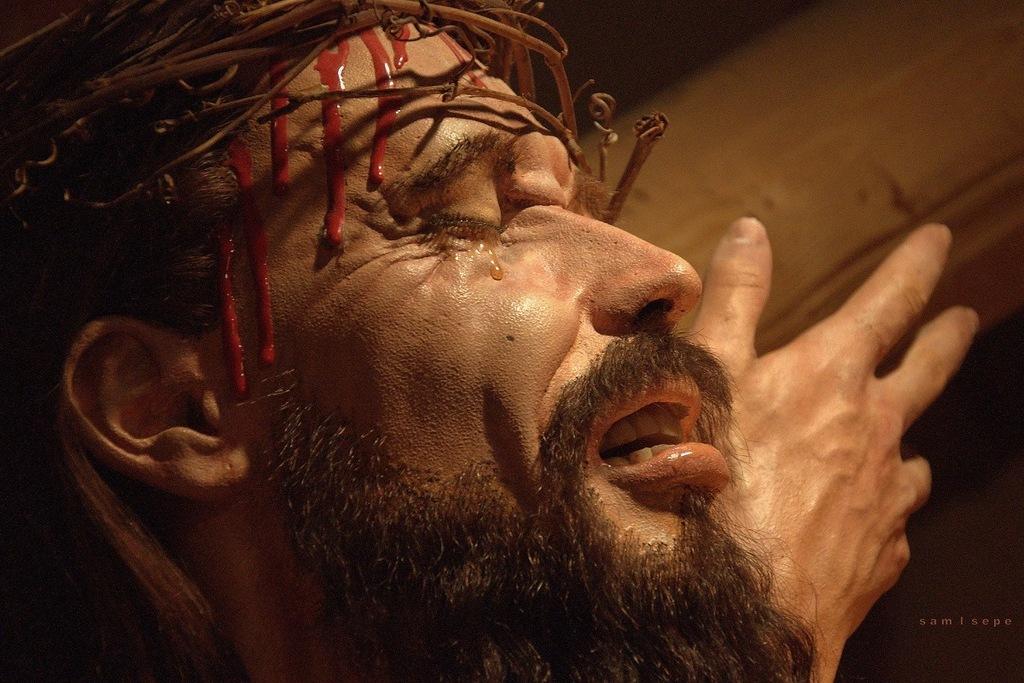 Il primo piano di un Gesù Cristo