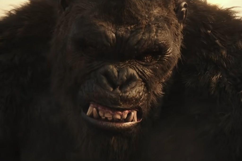 Un primo piano di King Kong in Godzilla vs. Kong