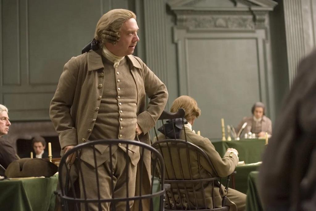 Paul Giamatti in una scena della serie John Adams