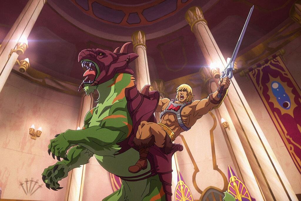 He-Man in una scena di Masters of the Universe: Revelation