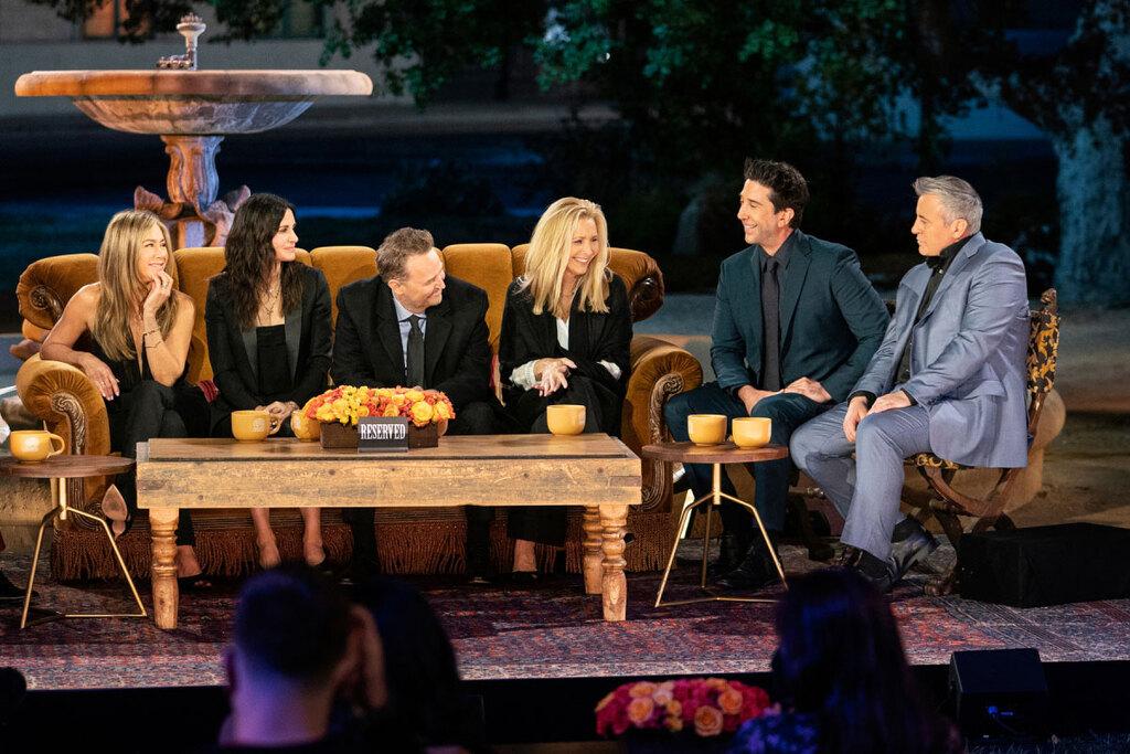 Una scena della reunion di Friends