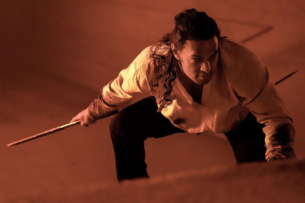 Jason Momoa in una scena di Dune