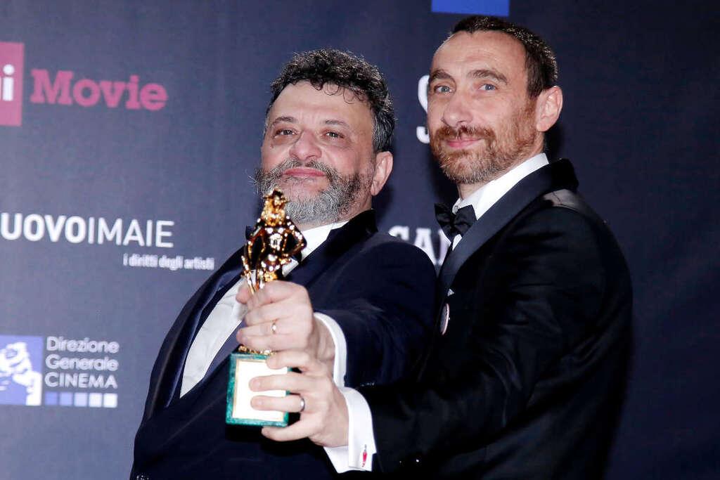 I Manetti Bros con il David di Donatello