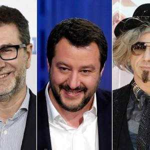 Salvini scatenato: stavolta attacca insieme Fazio e Morgan